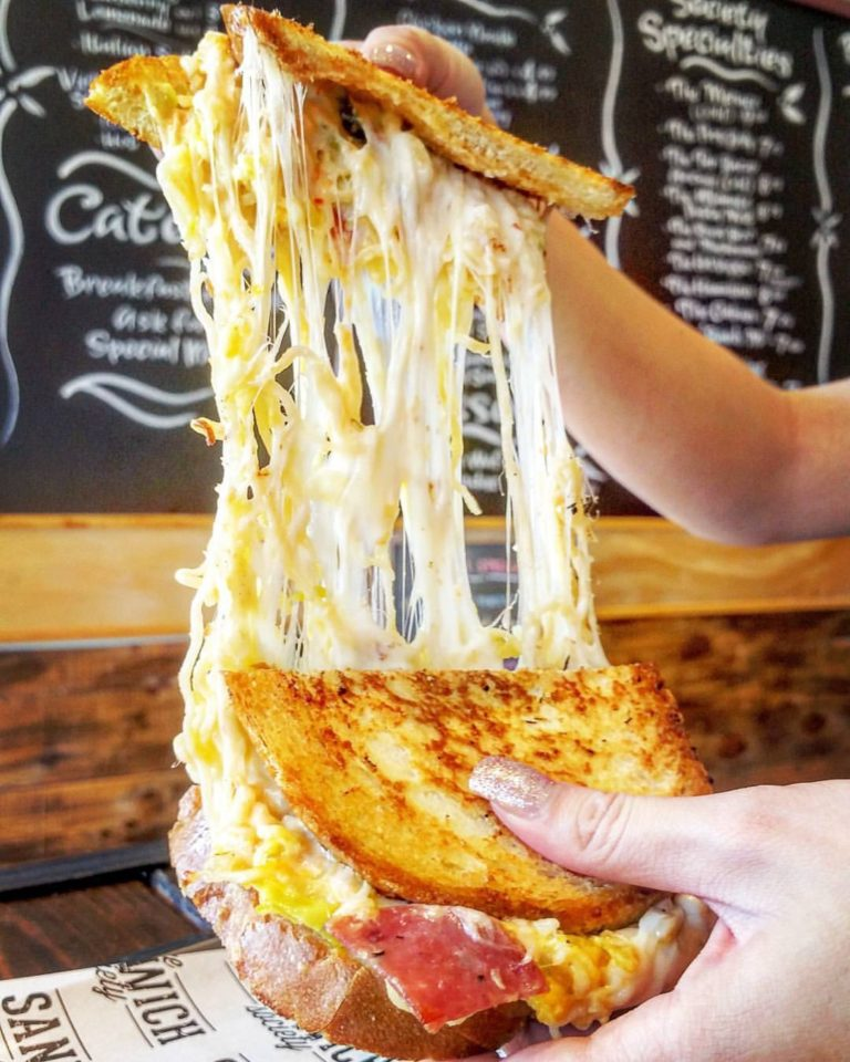 Ramen Grilled Cheese from the Sandwich Society. PC: @davidthefoodie