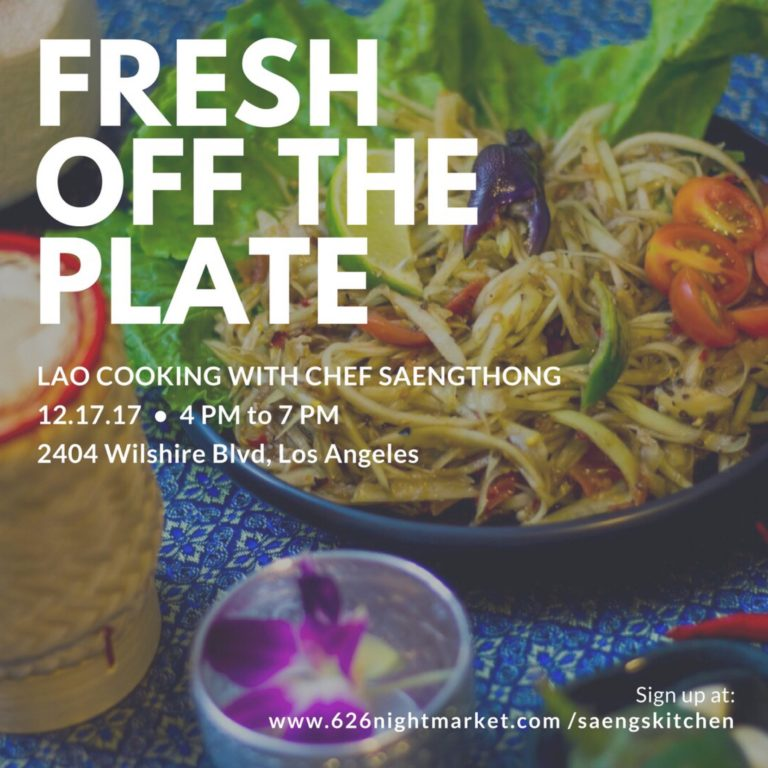 Lao Cooking with Chef Saengthong